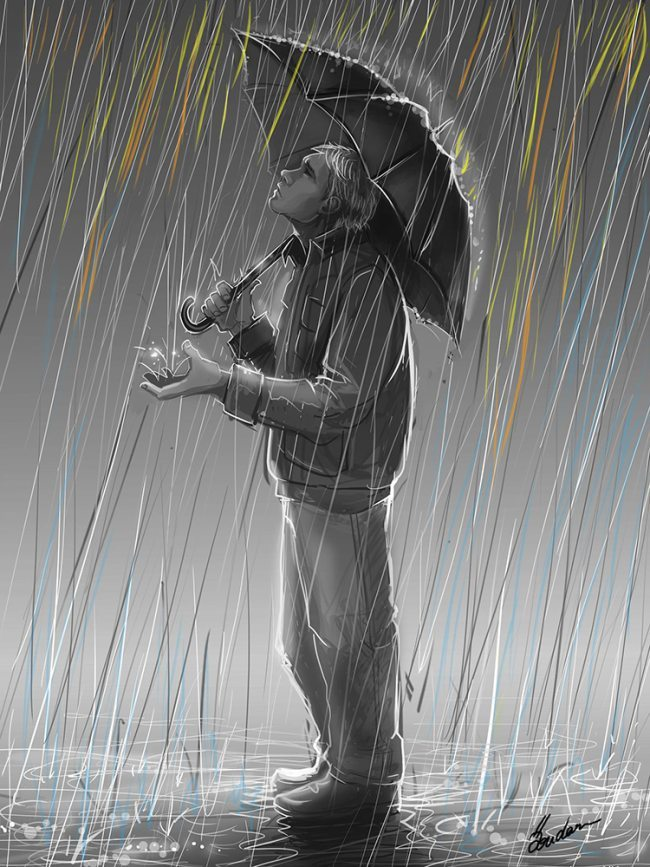 lonely man walking in rain wwwpixsharkcom images